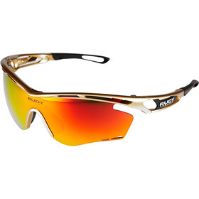 Rudy Project Tralyx Okulary rowerowe, gold velvet - rp optics multilaser orange